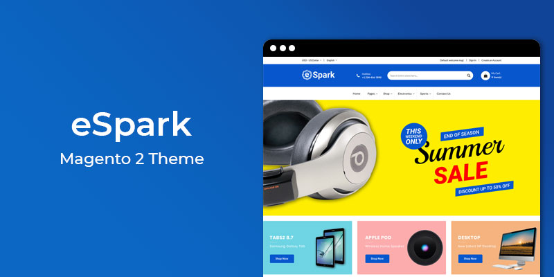 Espark - Responsive Electronics Magento 2 Theme