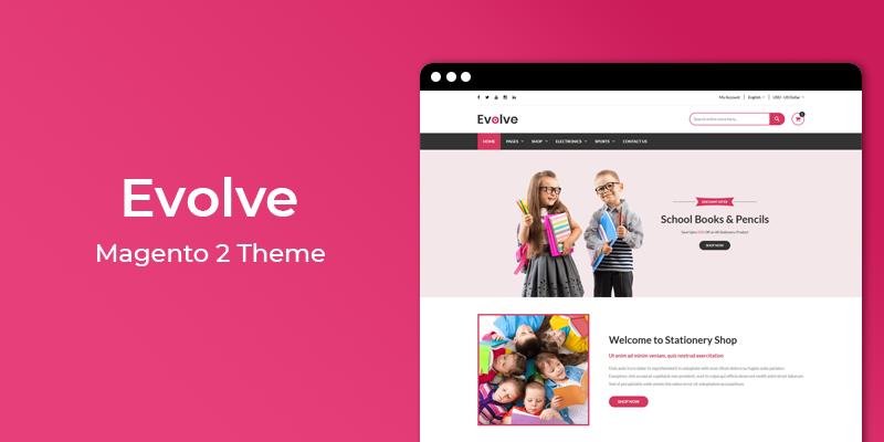 Evolve – Stationery Store Responsive Magento 2 Theme