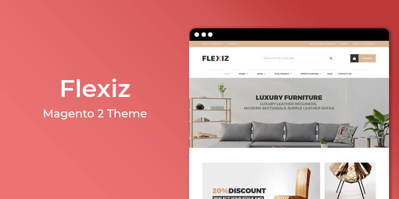 Flexiz - Furniture & Home Decor Magento 2 Theme