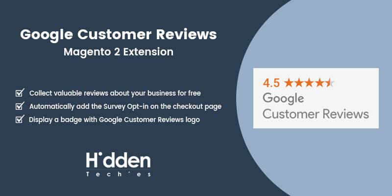 Google Customer Reviews Magento 2 Extension