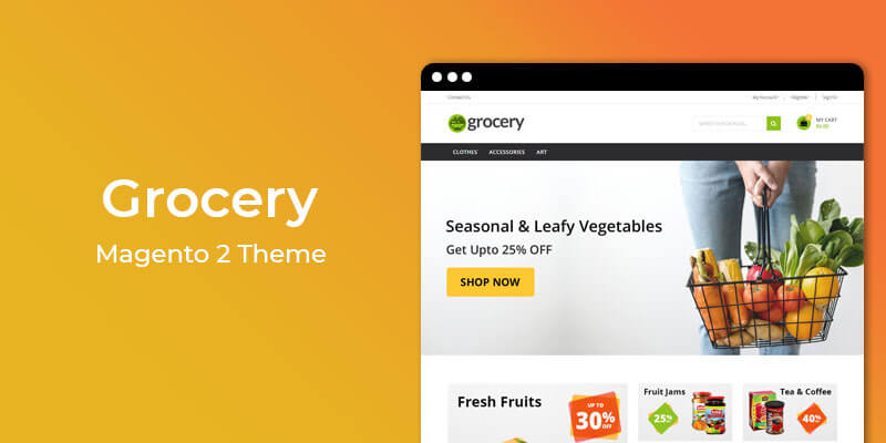 Grocery - Grocery Store Responsive Magento® 2 Theme