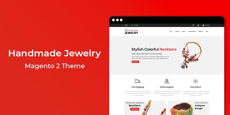 Handmade Jewelry - Responsive Magento 2 Theme
