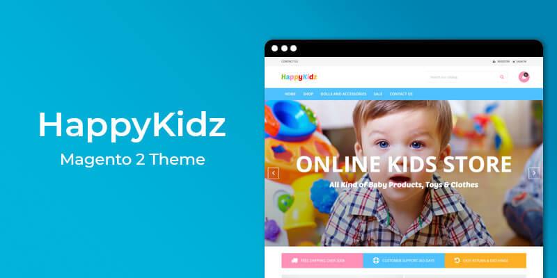 HappyKidz  - Kids Fashion & Toys Responsive Magento 2 Theme