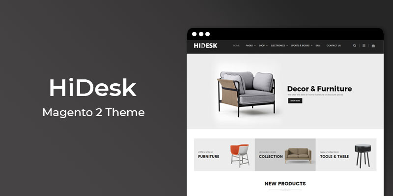 HiDesk - Furniture Responsive  Magento 2 Theme