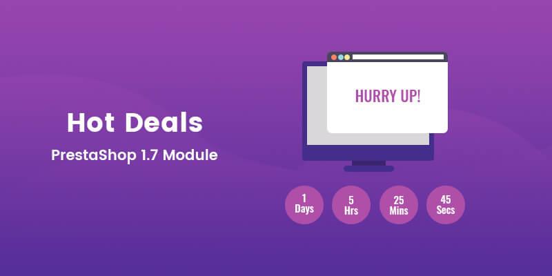 Hot Deals / Daily Deals PrestaShop Module