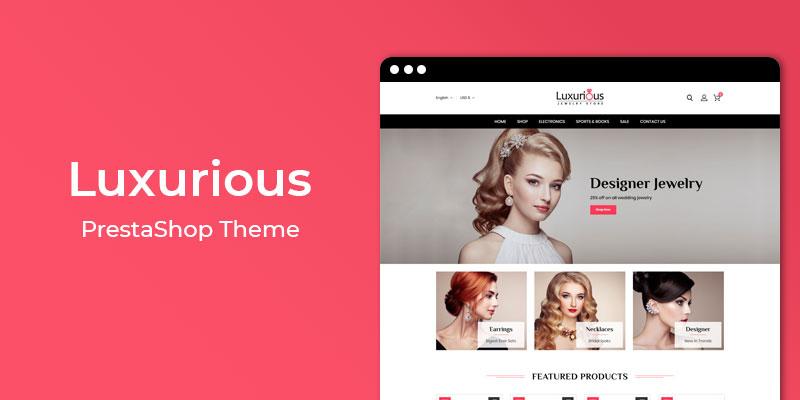 Luxurious - Jewelry Store Responsive Prestashop Theme