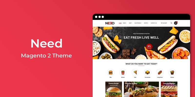 Need - Restaurant & Online Food Store Magento 2 Theme