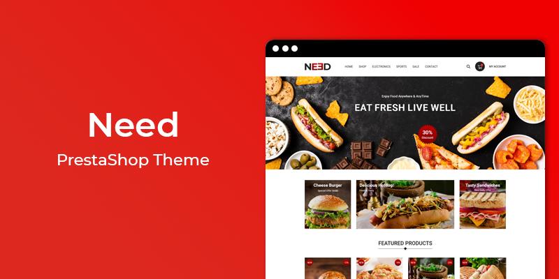 Need - Restaurant & Online Food Store  Prestashop Theme