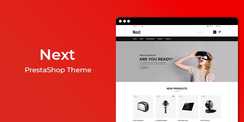 Next – Free Prestashop Theme