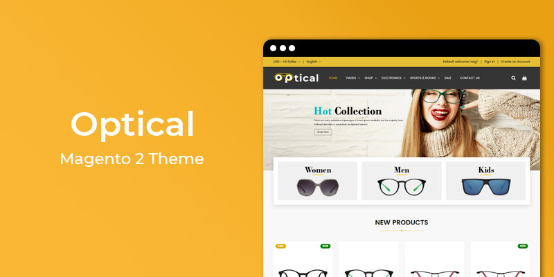 Optical - Responsive  Magento 2 Theme