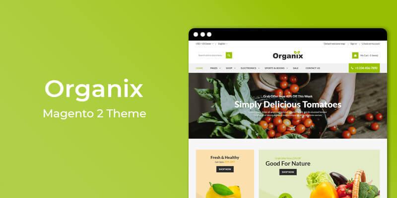 Organix – Vegetable Store Magento 2 Theme