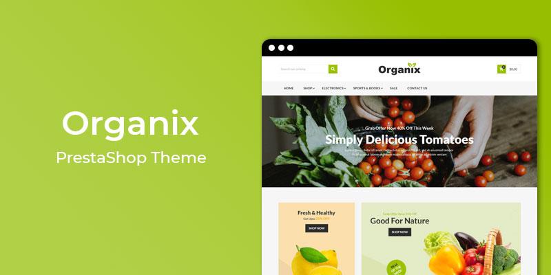 Organix - Vegetable Store Prestashop Theme
