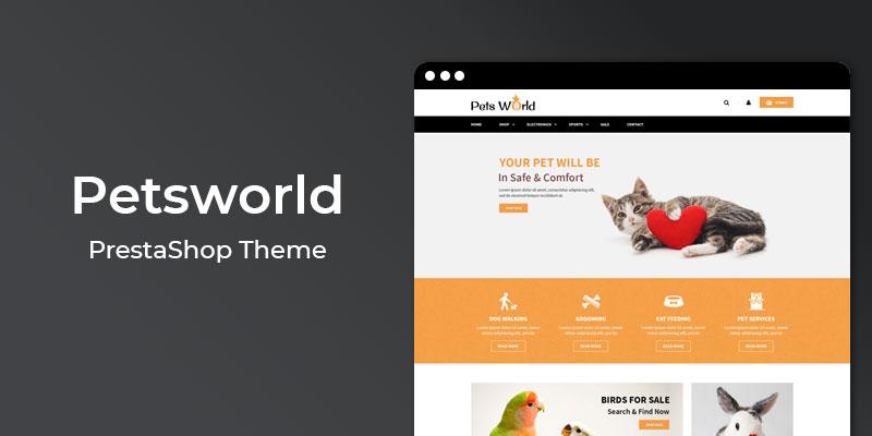 Petsworld - Online Pet Store  Prestashop Theme