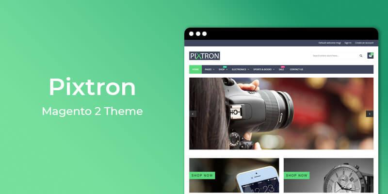 Pixtron – Free Responsive Theme for Magento® 2