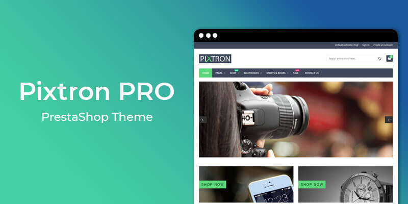 Pixtron Pro – Responsive Theme for Prestashop