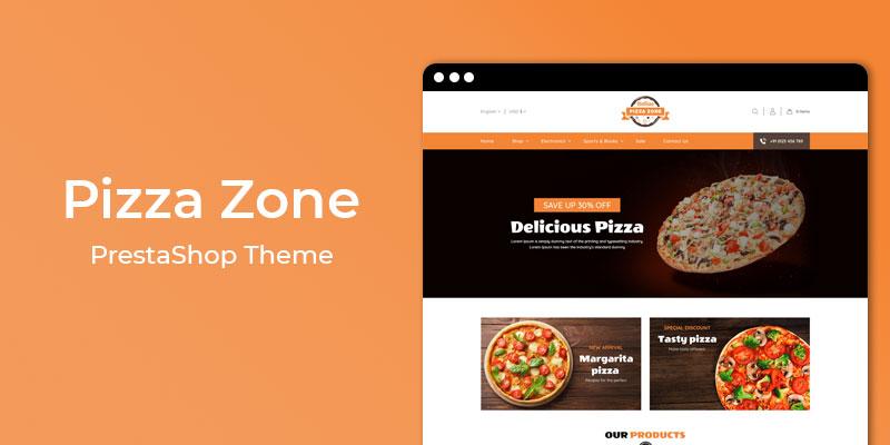 Pizza Zone - Restaurant & Online Food Store  Prestashop Theme