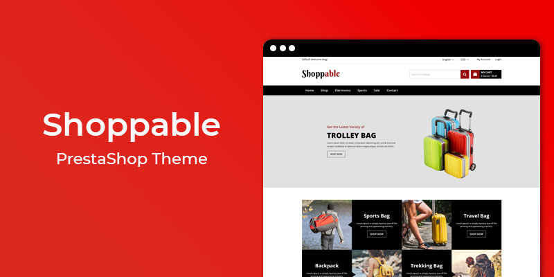 Shoppable – Accessories Store Responsive PrestaShop Theme