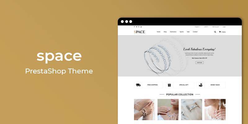 Space - Jewelry Store Responsive Prestashop Theme