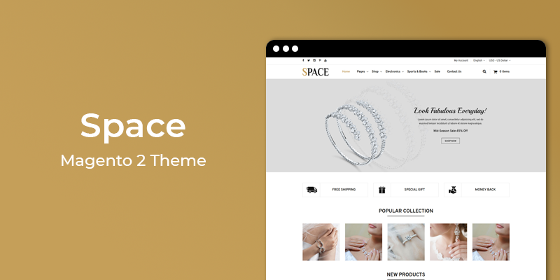 Space - Jewelry Store Responsive Magento 2 Theme