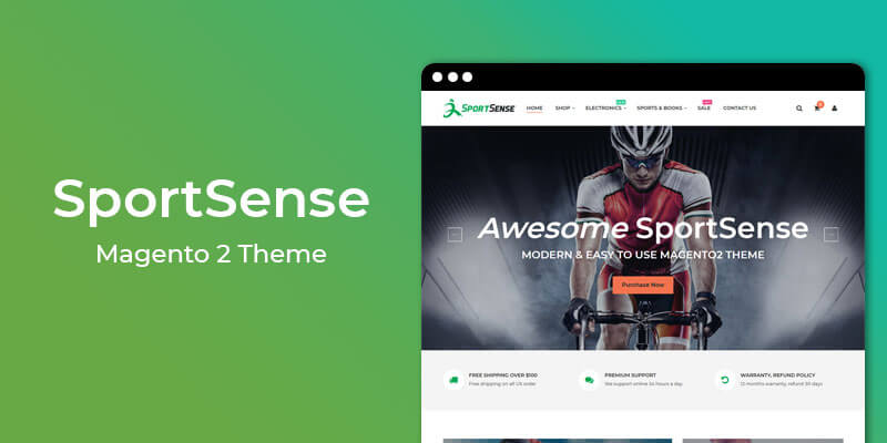 SportSense  - MultiPurpose Responsive Magento® 2 Theme