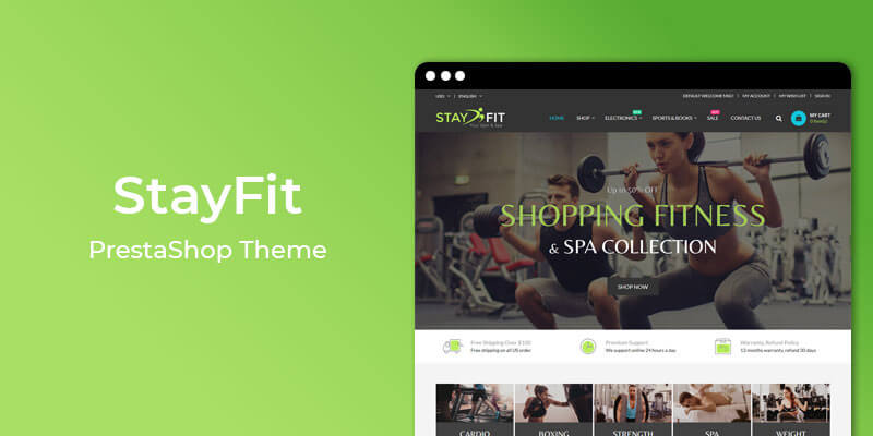StayFit - Gym & Spa Responsive Prestashop Theme