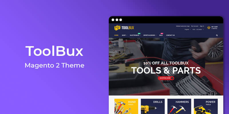 ToolBux - Tools & Hardware Responsive Magento 2 Theme