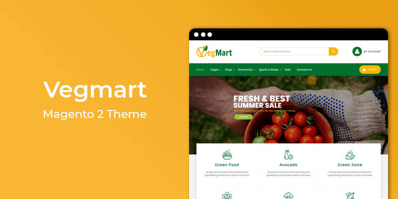 Vegmart - Grocery Store Responsive Magento 2 Theme