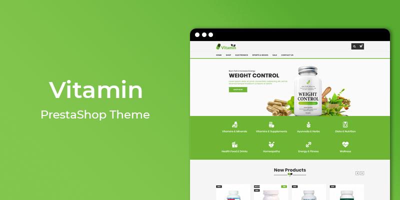 Vitamin – Nutrition Store Responsive PrestaShop Theme