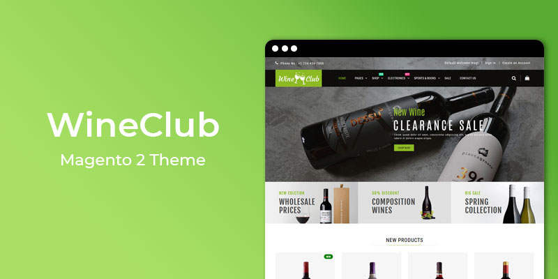 WineClub - Wine Shop Magento® 2 Responsive Theme