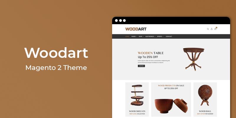 WoodArt - Furniture Store Responsive Magento 2 Theme