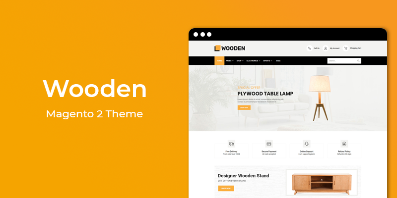 Wooden - Furniture Store Responsive Magento 2 Theme