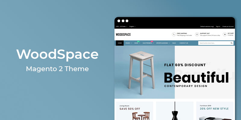 WoodSpace - Furniture Store Responsive Magento 2 Theme