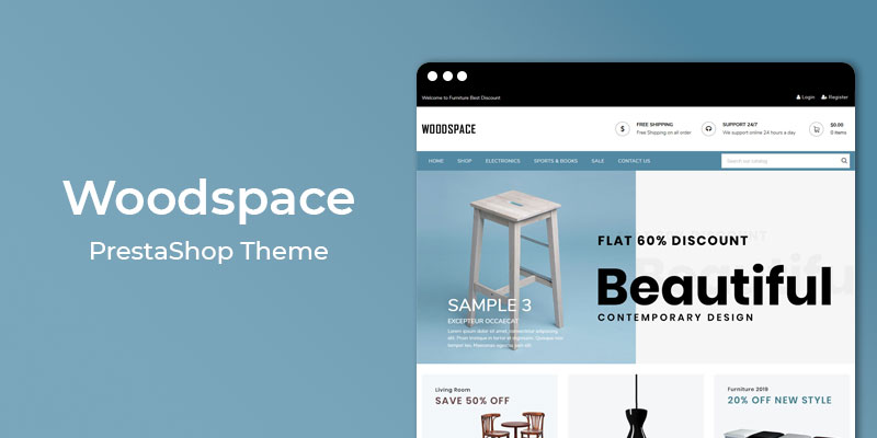 WoodSpace - Responsive Furniture Prestashop Theme