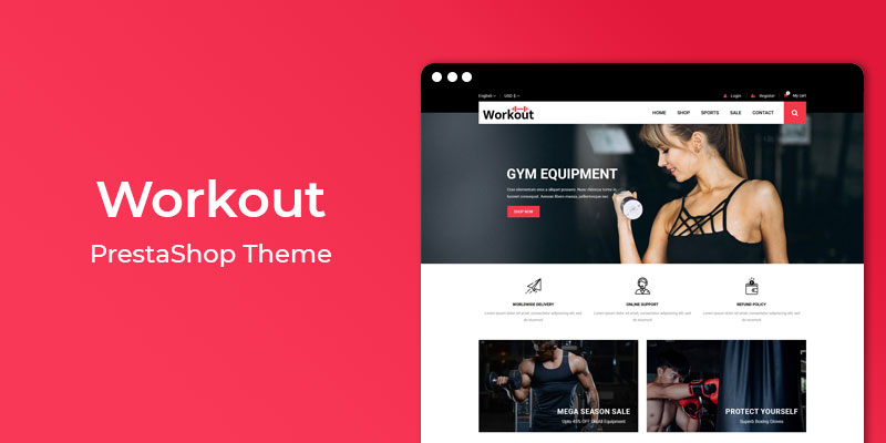 Workout - Gym & Spa Responsive Prestashop Theme