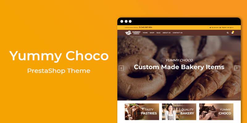 Yummy Choco - Cake & Bakery Store Prestashop Theme