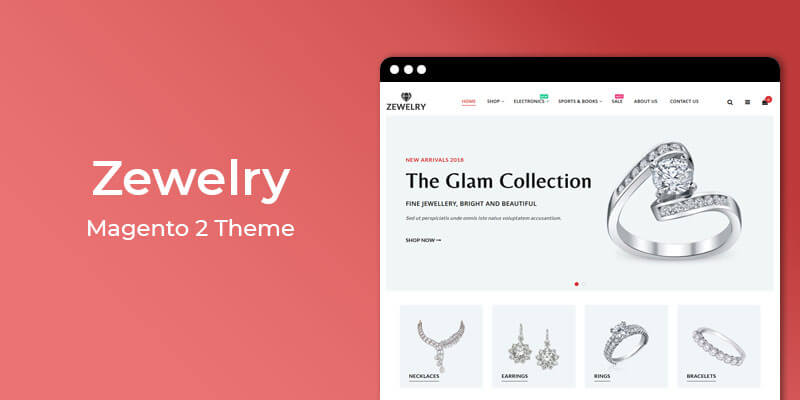 Zewelry - Jewelry Store Responsive Magento® 2 Theme