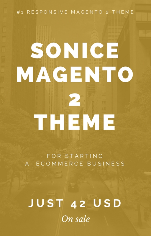 Sonice Magento 2 Theme - Hiddentechies
