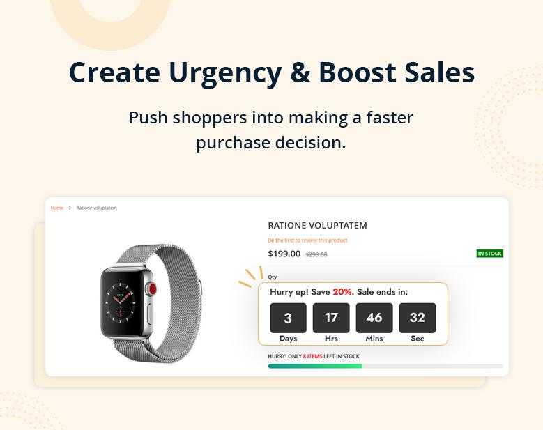 Create Urgency & Boost Sales