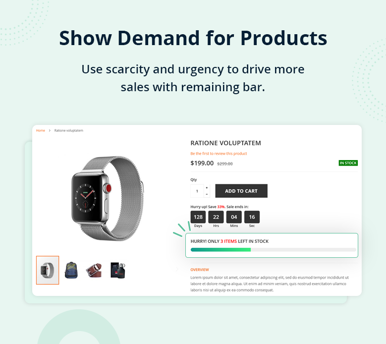 Show Demand for Products