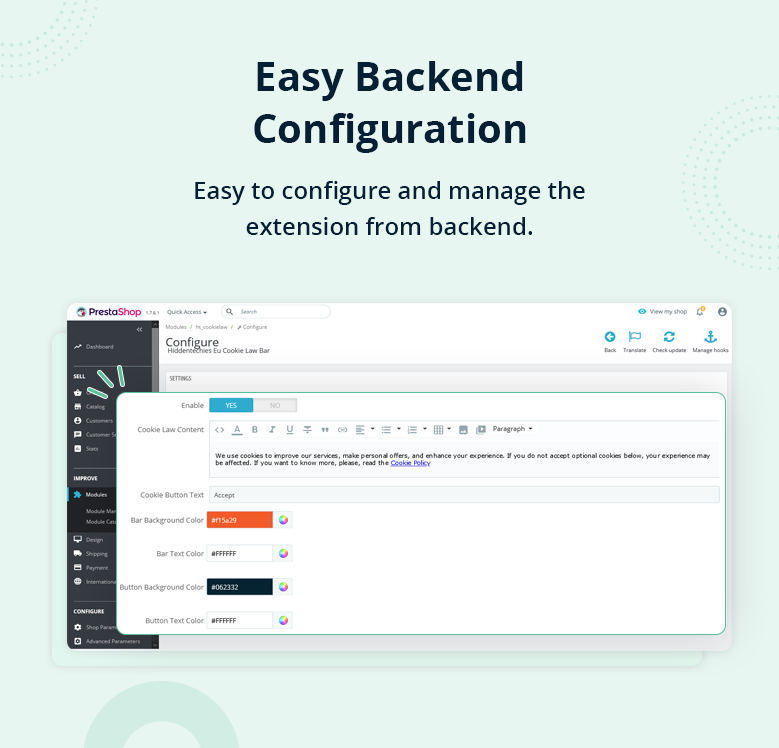 Easy Backend Configuration
