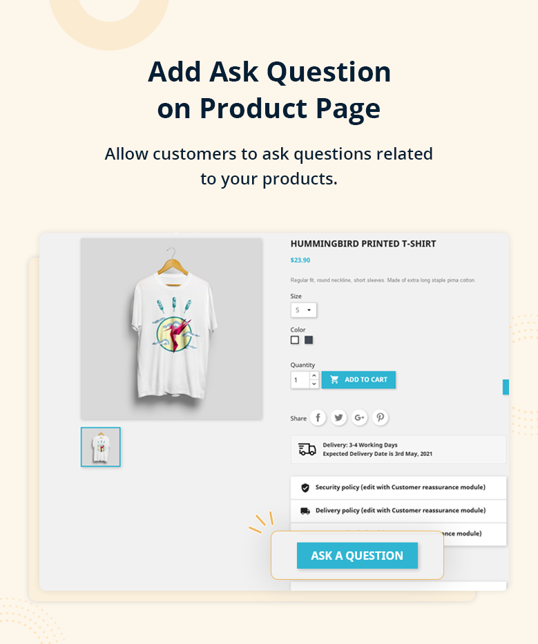 Add Ask Question on Product Page