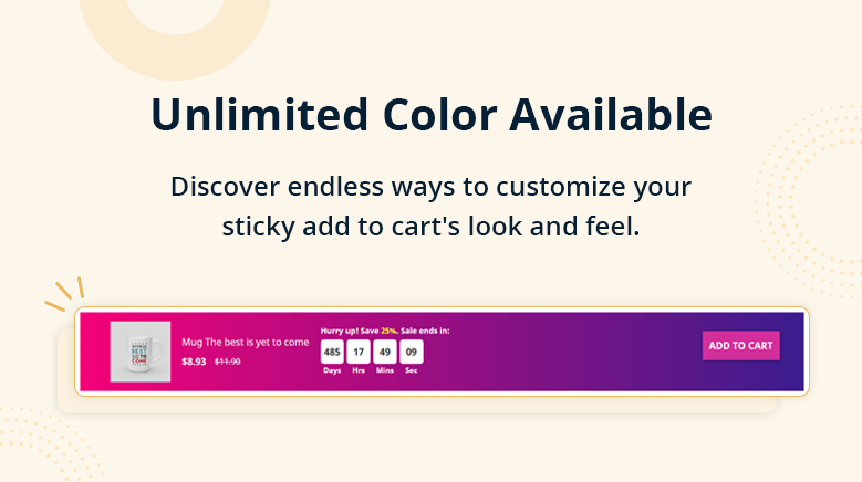Unlimited Color Available