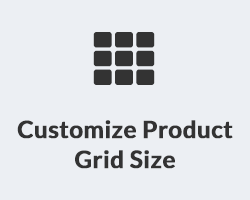 Customize Product Grid Size