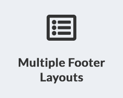 Multiple Footer Layouts