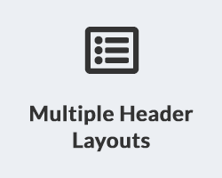 Multiple Header Layouts