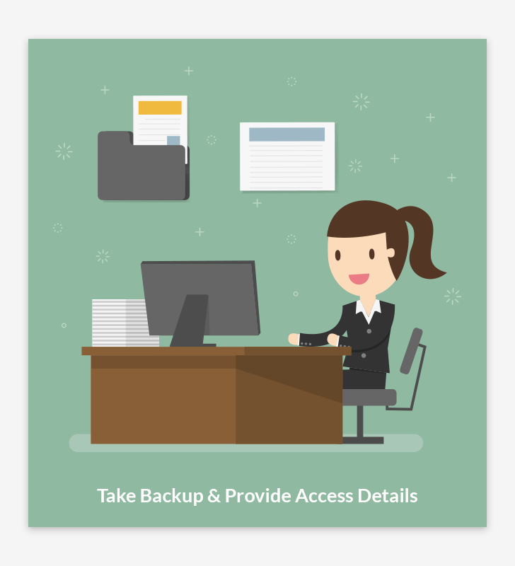 Take Backup & Provide Access Details