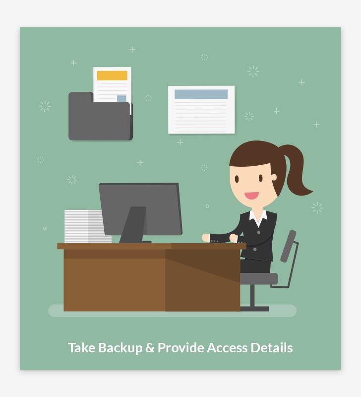 Take Backup & Provide Access Details