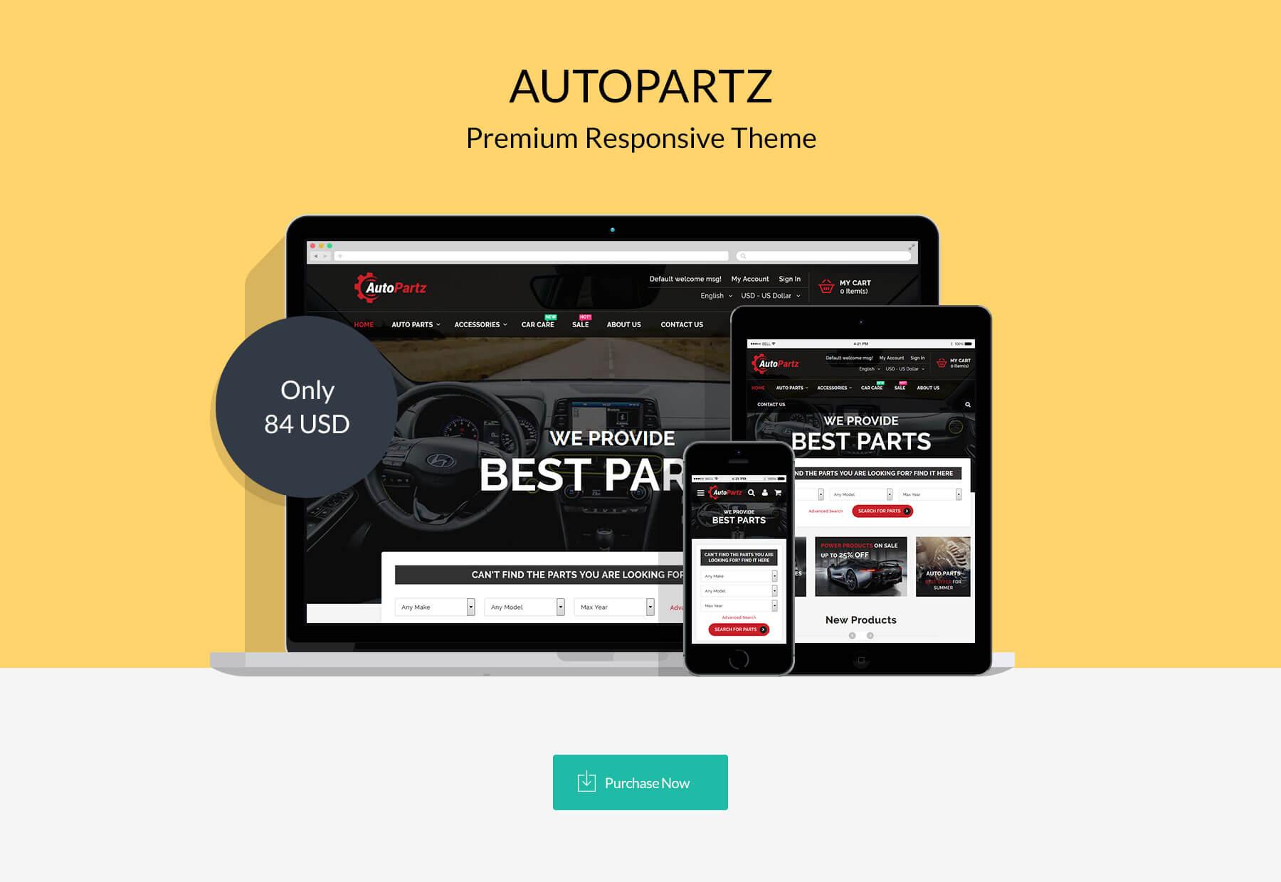 AutoPartz - Responsive Magento 2 Theme