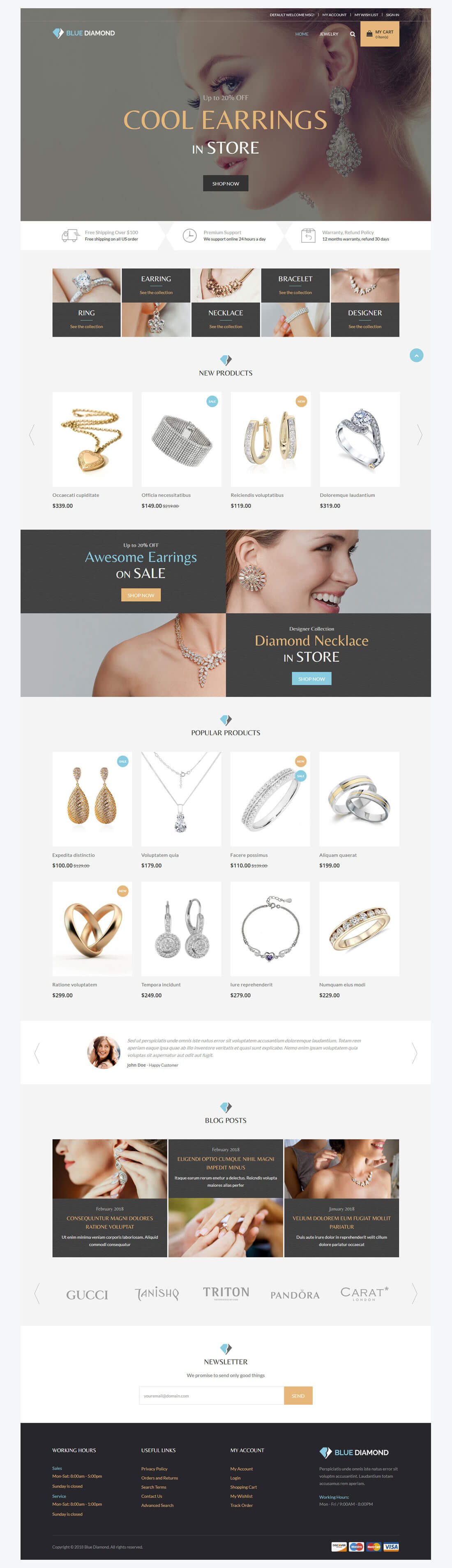 Blue Diamond - Home Page Overview