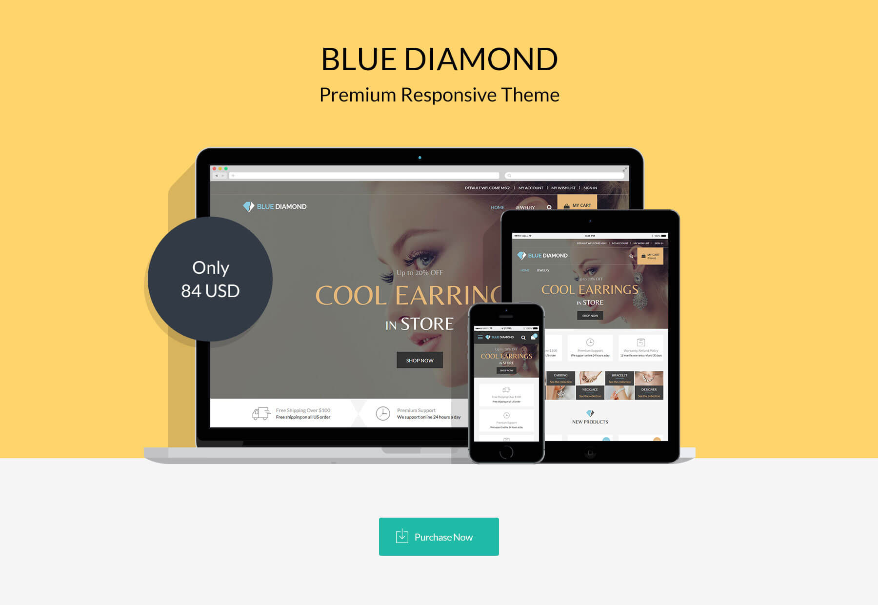 Blue Diamond - Responsive Magento 2 Theme